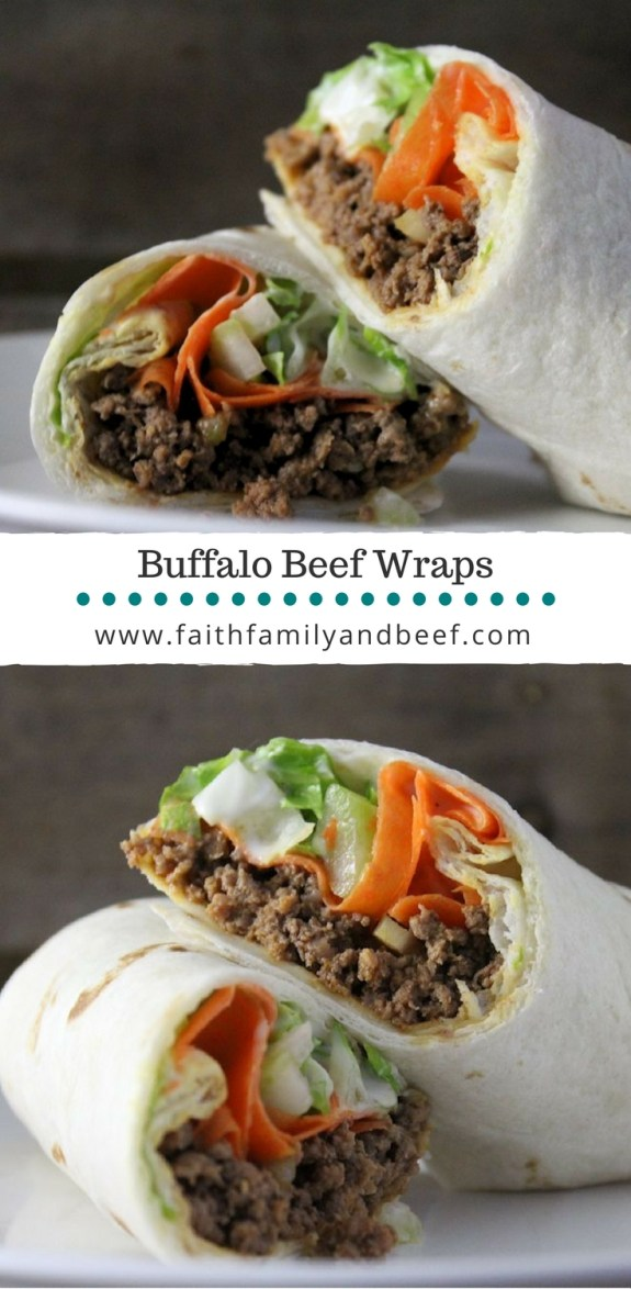Buffalo Beef Wraps were a huge hit not only with my ever skeptical of trying new foods husband, but also with the kids!