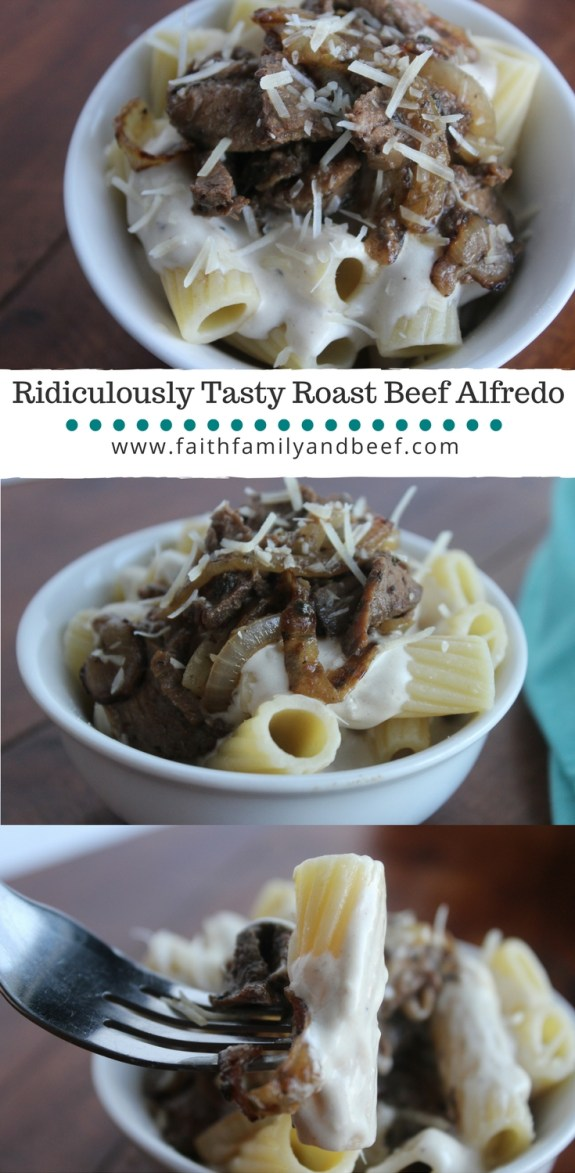 Ridiculously Tasty Roast Beef Alfredo