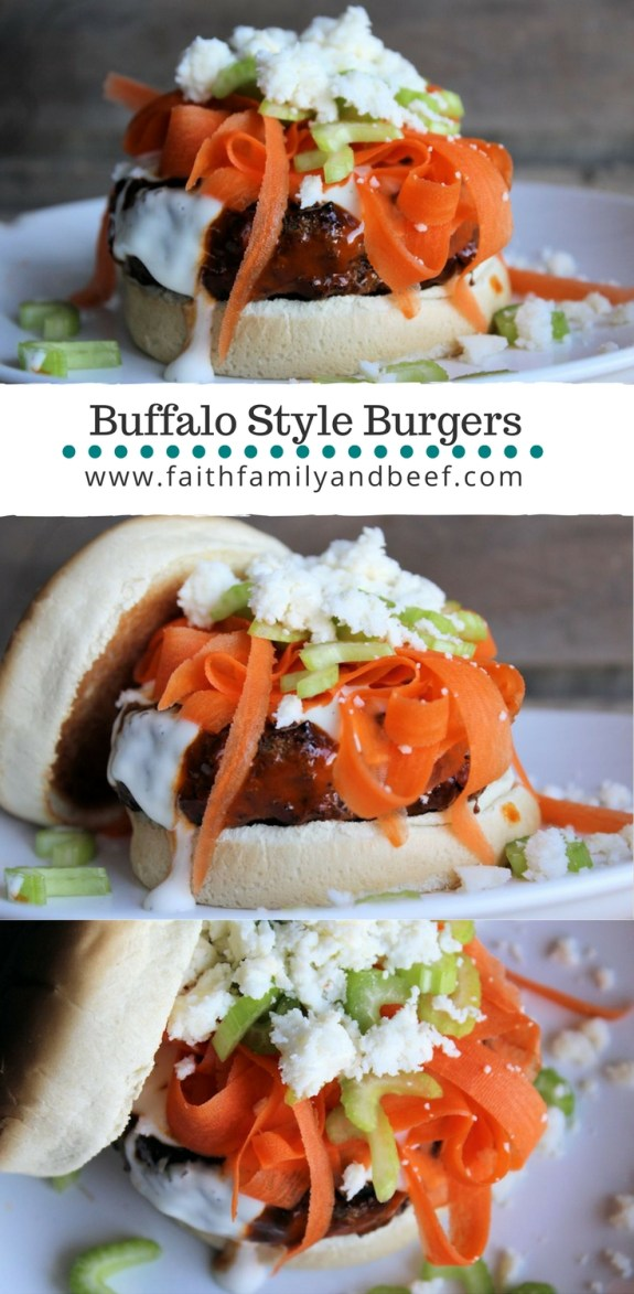 Buffalo Style Burgers - Burgers that say Buffalo sauce IS for more than just wings!