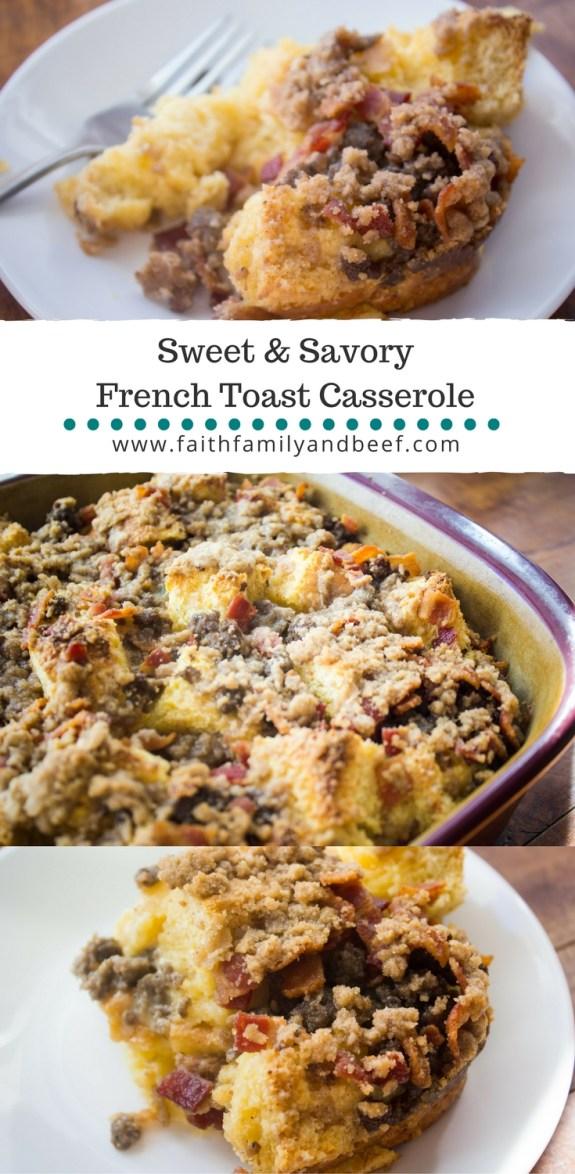 Sweet & Savory French Toast Casserole