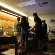 Typical hour in the delivery room with visitors