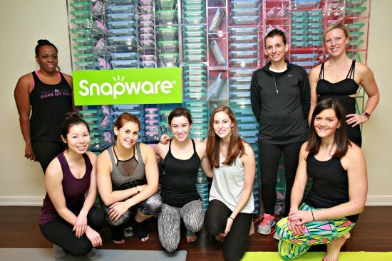 Mom time at Snapware Yoga Event