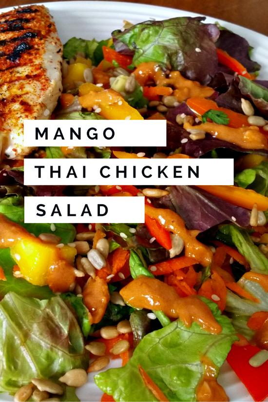 mango thai chicken salad