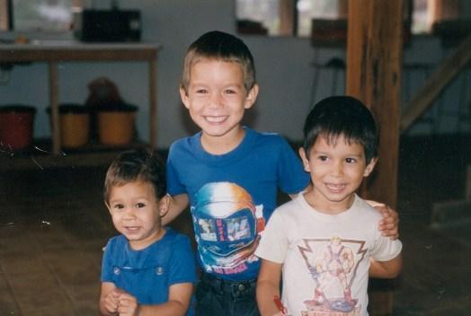 young Dawson boys in the jungle