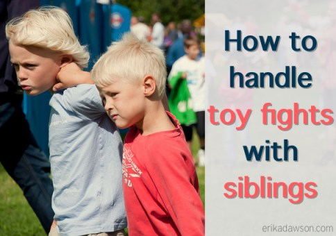 How to Handle Toy Fights with Siblings