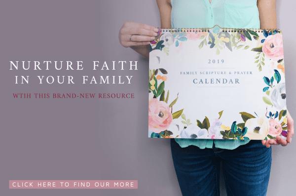 LOVE this faith-based, Christian wall calendar!!! // family Scripture and prayer calendar for families to use to grow their kids in faith and prayer