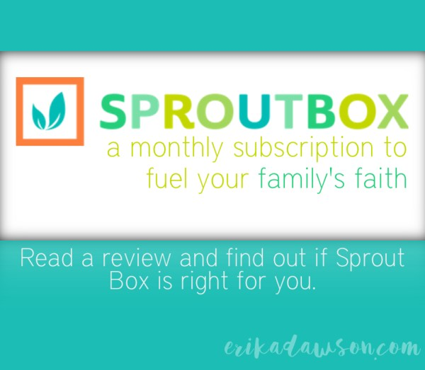 Sprout Box Kids Family Faith Review