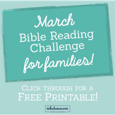 March Easter Bible Reading Challenge for families