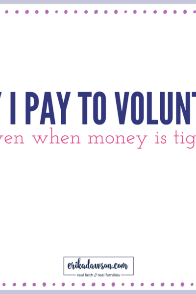 Why I Pay to Volunteer