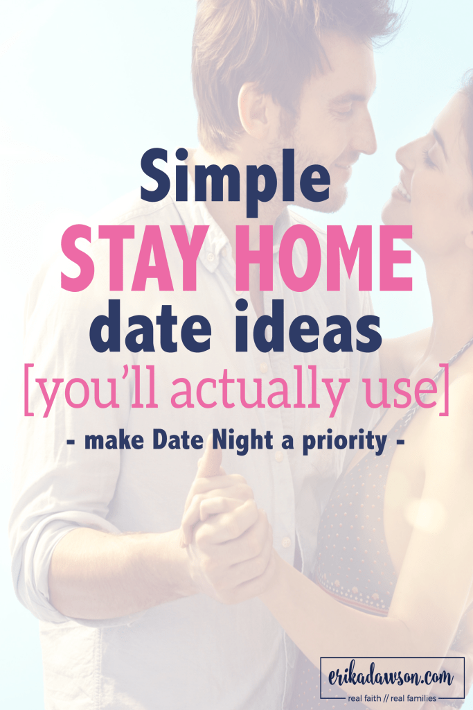 simple at-home date ideas you'll actually use