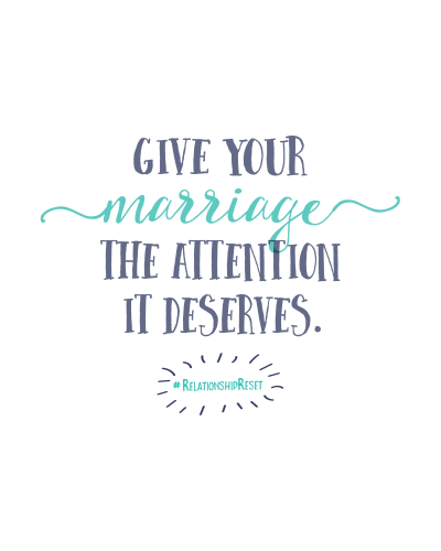#relationshipReset marriage challenge for couples