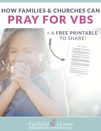 LOVE this resource to get people PRAYING for VBS