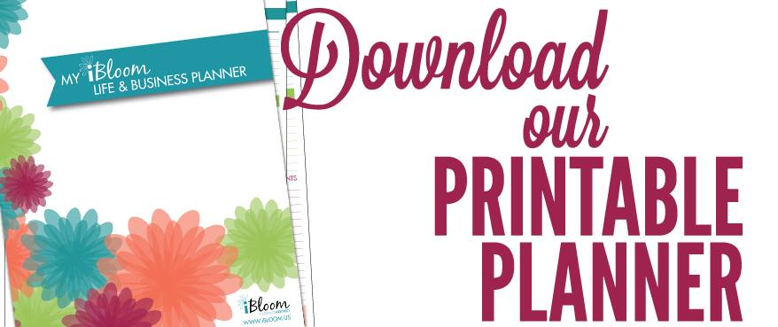 print a 1-month sample of the iBloom planner for free!!