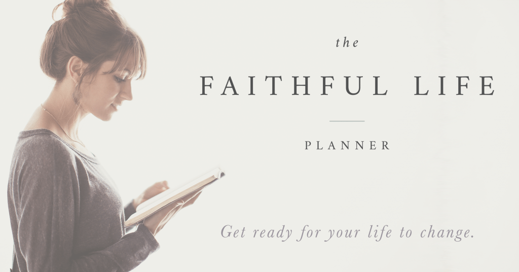 The Faithful Life Planner :: A quiet time journal + planner for women // CAN.NOT.WAIT for this!!!