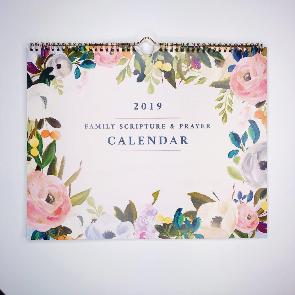 Family Scripture + Prayer Calendar from Faithful Moms and the Faithful Life Planner