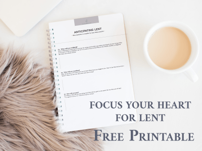 great journal printable to help you prayerfully approach Lent from #FaithfulMoms