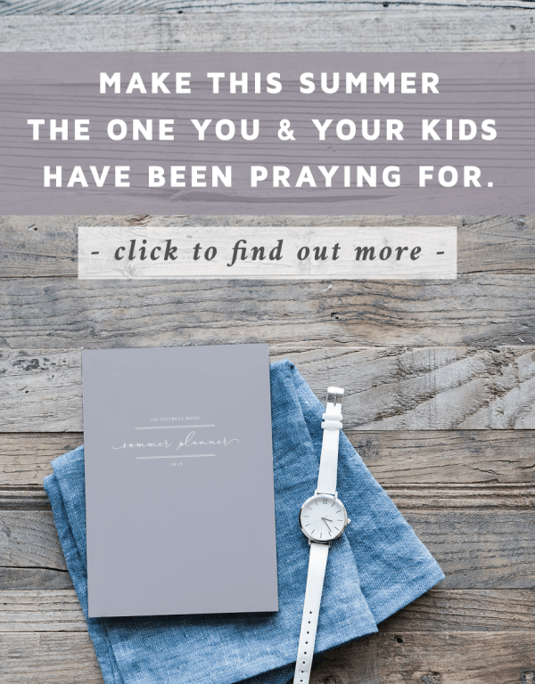 The Faithful Moms Summer Planner -- SO EXCITED about this to help me be a more intentional mom this summer