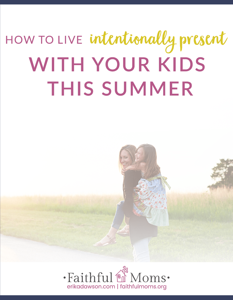 LOVE this reminder about how to actually live present and intentional at home with my kids!!