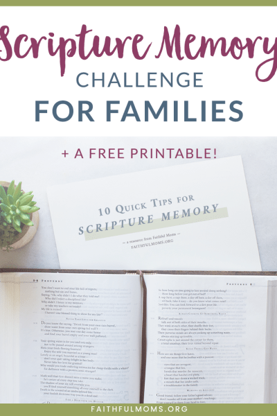 Scripture Memory Challenge for Families
