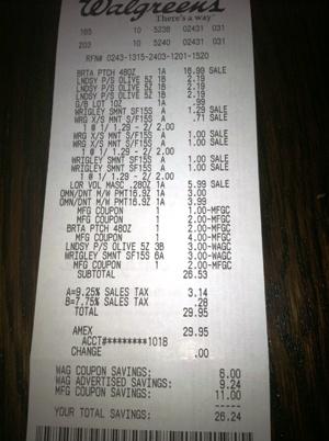 walgreens receipt walgreens prescription receipt walgreens