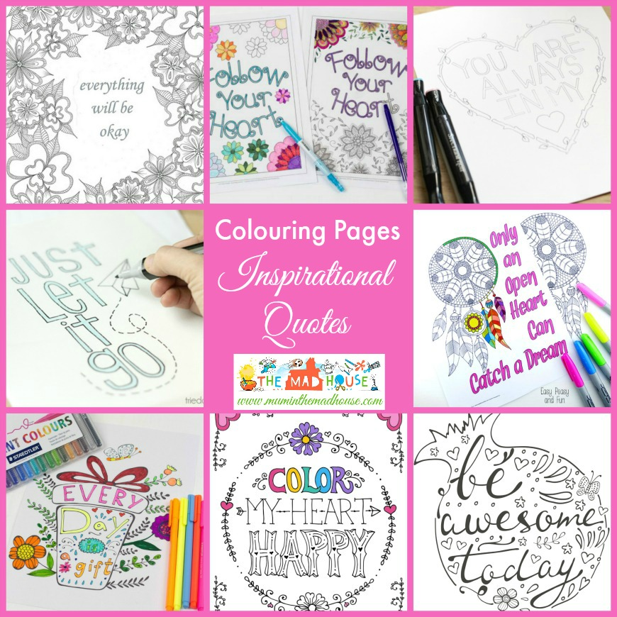 Free Inspirational Quotes Coloring Pages For Adults And