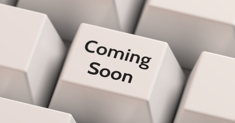 image of the words Coming Soon on a key of a computer keyboard