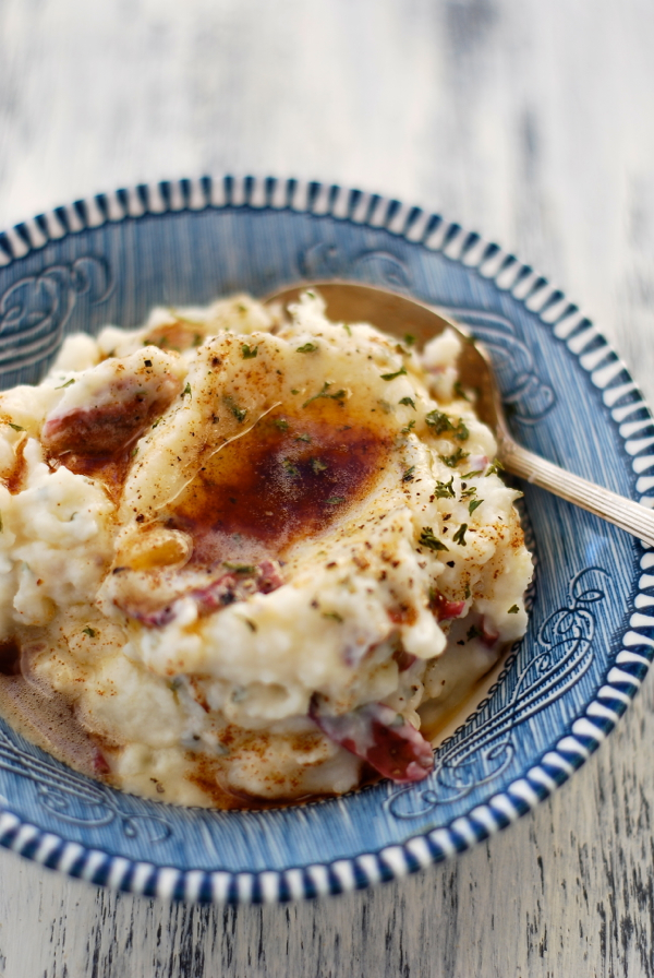 Brown Butter Mashed Potatoes | Faith, Hope, Love, and Luck Survive Despite a Whiskered Accomplice
