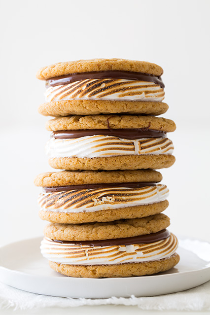 S'mores Cookie Sandwiches | Faith, Hope, Love, and Luck Survive Despite a Whiskered Accomplice