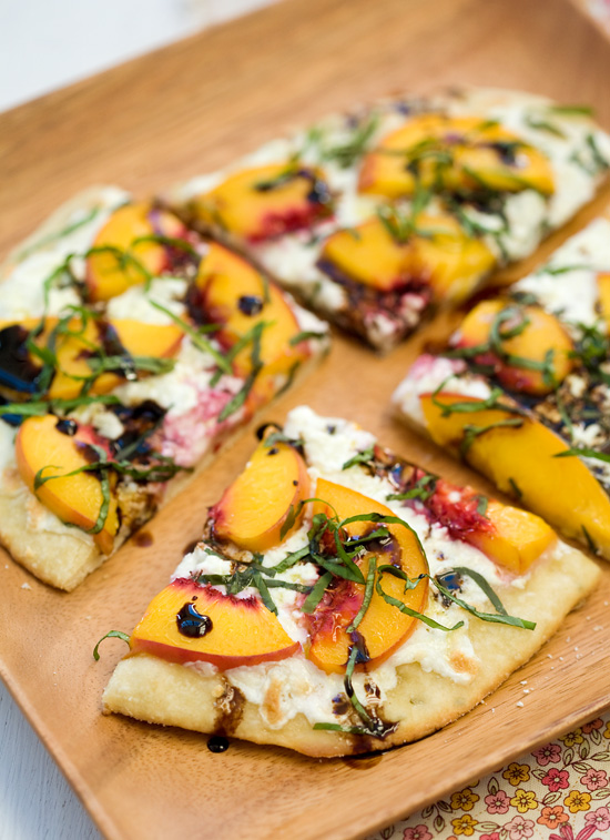 Summer Peach and Balsamic Pizza | Faith, Hope, Love, and Luck Survive Despite a Whiskered Accomplice
