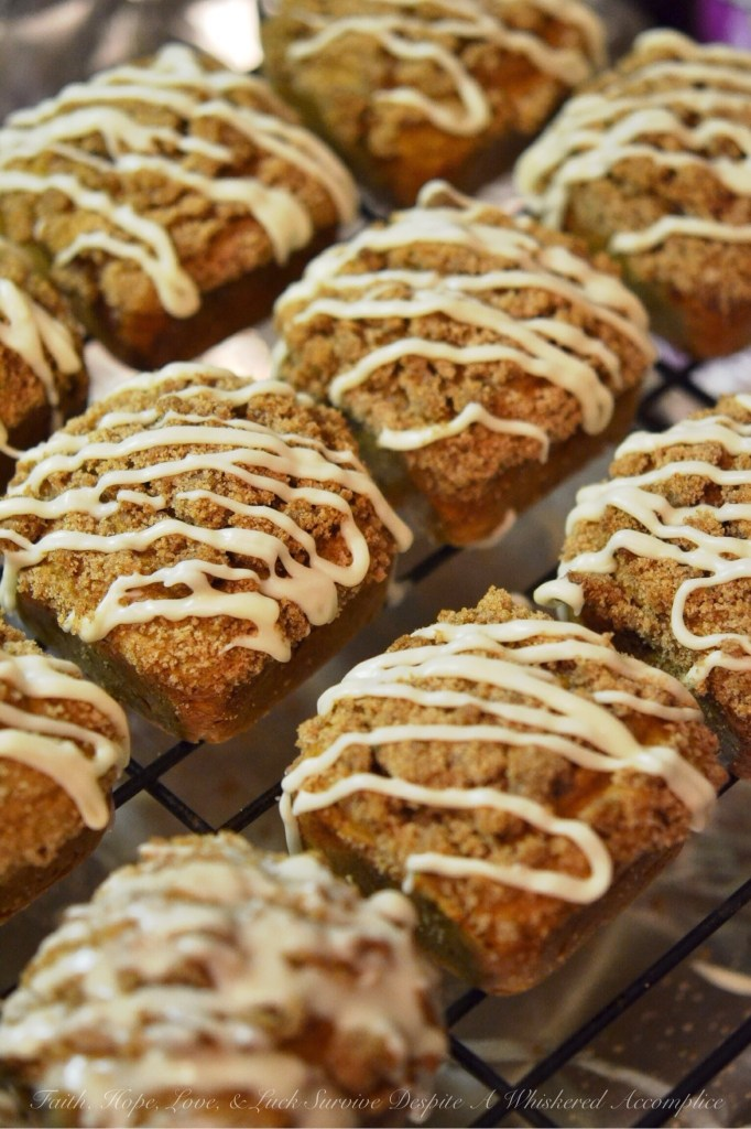 Pumpkin Streusel Breakfast Squares | Faith, Hope, Love, and Luck Survive Despite a Whiskered Accomplice