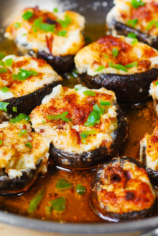 Bacon and Cheese Stuffed Mushrooms | Faith, Hope, Love, and Luck Survive Despite a Whiskered Accomplice