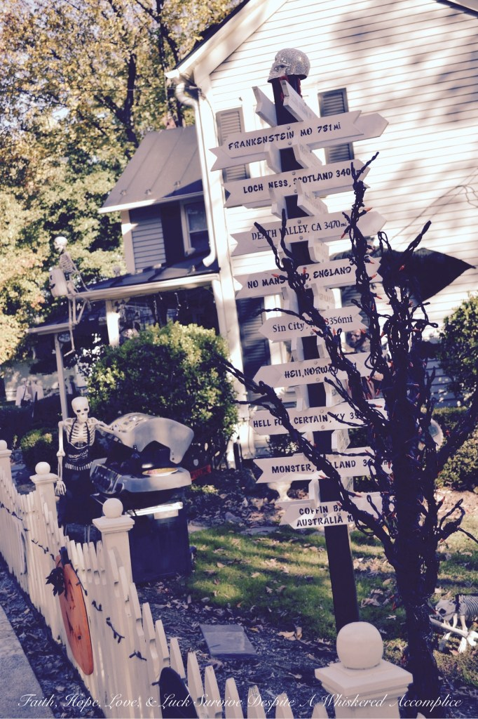2014 Delawder Matthews Halloween House | Faith, Hope, Love, and Luck Survive Despite a Whiskered Accomplice