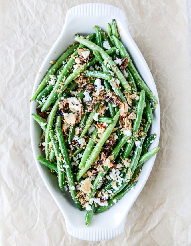 Loaded Skillet Toasted Green Beans | Faith, Hope, Love, and Luck Survive Despite a Whiskered Accomplice