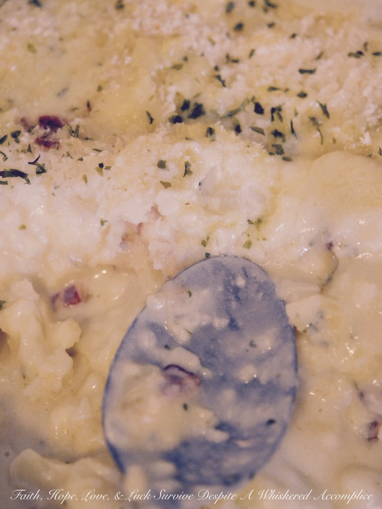 Cauliflower Au Gratin | Faith, Hope, Love, and Luck Survive Despite a Whiskered Accomplice