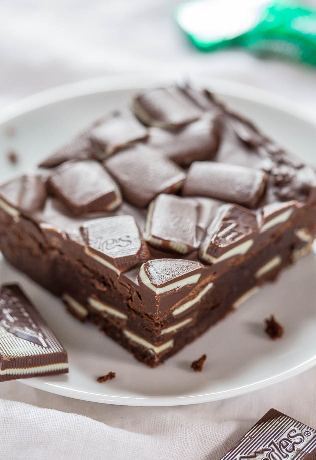 Andes Mint Brownies | Faith, Hope, Love, and Luck Survive Despite a Whiskered Accomplice