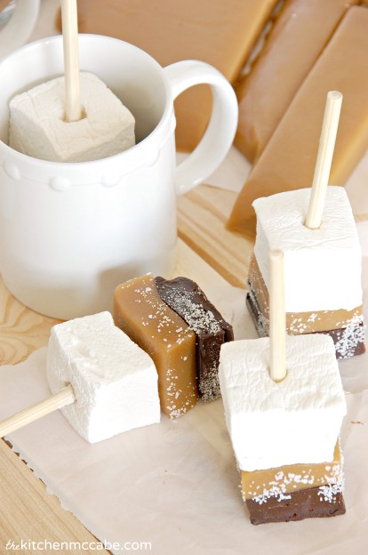 Salted Caramel Hot Chocolate Sticks | Faith, Hope, Love, and Luck Survive Despite a Whiskered Accomplice
