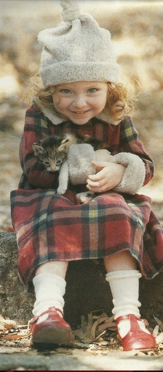 Tartan Girl with Kitty | Faith, Hope, Love, and Luck Survive Despite a Whiskered Accomplice