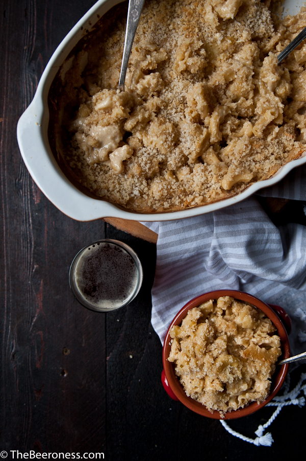 Creamy Baked Gouda Cheddar Beer Mac   Faith, Hope, Love, and Luck Survive Despite a Whiskered Accomplice