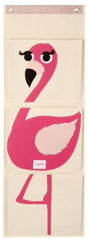 Flamingo Wall Organizer | Faith, Hope, Love, and Luck Survive Despite a Whiskered Accomplice