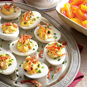 Muffuletta Deviled Eggs | Faith, Hope, Love, and Luck Survive Despite a Whiskered Accomplice