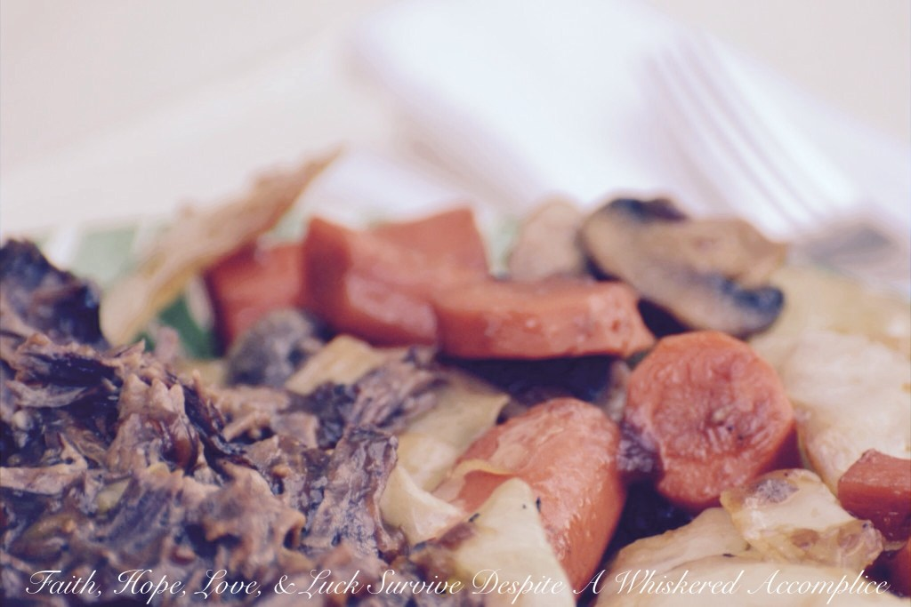 Pot Roast with Stout Gravy | Faith, Hope, Love, and Luck Survive Despite a Whiskered Accomplice