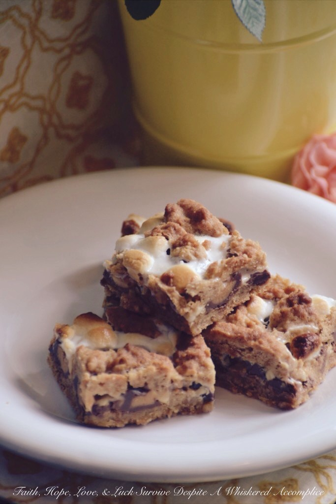 Peanut Butter Cup S'mores Bars | Faith, Hope, Love, and Luck Survive Despite a Whiskered Accomplice