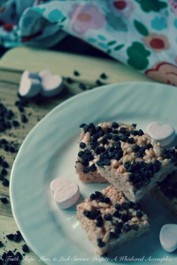 Berry Rice Krispies Treats | Faith, Hope, Love, and Luck Survive Despite a Whiskered Accomplice