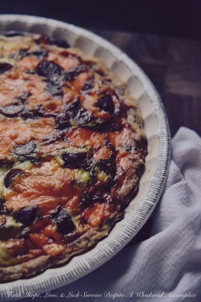 Irish Quiche | Faith, Hope, Love, and Luck Survive Despite a Whiskered Accomplice