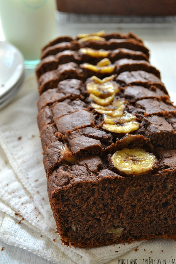 Chocolate Banana Brownie Bread | Faith, Hope, Love, and Luck Survive Despite a Whiskered Accomplice