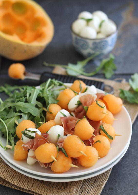 Melon, Prosciutto and Mozzarella Sticks | Faith, Hope, Love, and Luck Survive Despite a Whiskered Accomplice