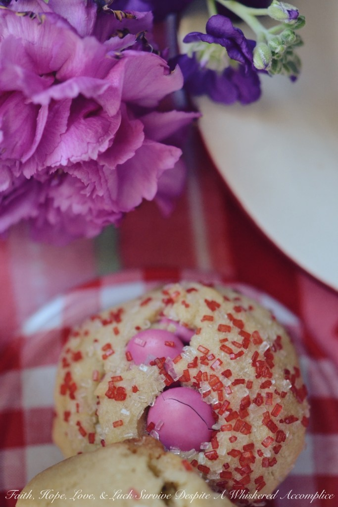 Valentine's Tea Cookies | Faith, Hope, Love, and Luck Survive Despite a Whiskered Accomplice