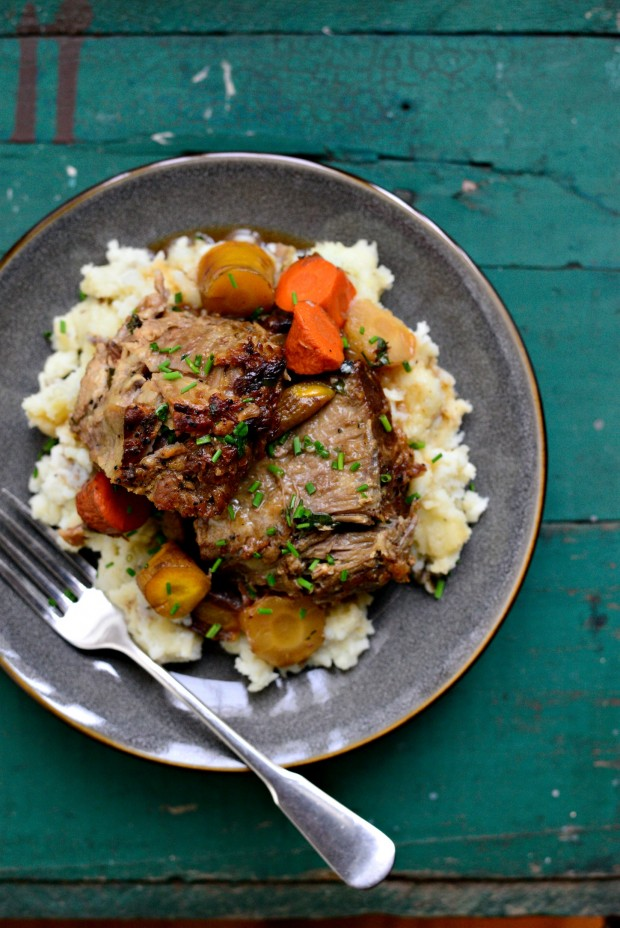 Cider-Braised Pork Shoulder | Faith, Hope, Love, and Luck Survive Despite a Whiskered Accomplice