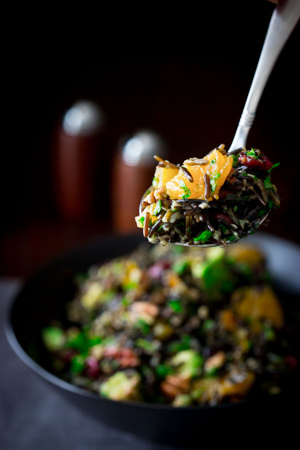 Wild Rice Salad with Cranberries Apricots and Avocado | Faith, Hope, Love, and Luck Survive Despite a Whiskered Accomplice