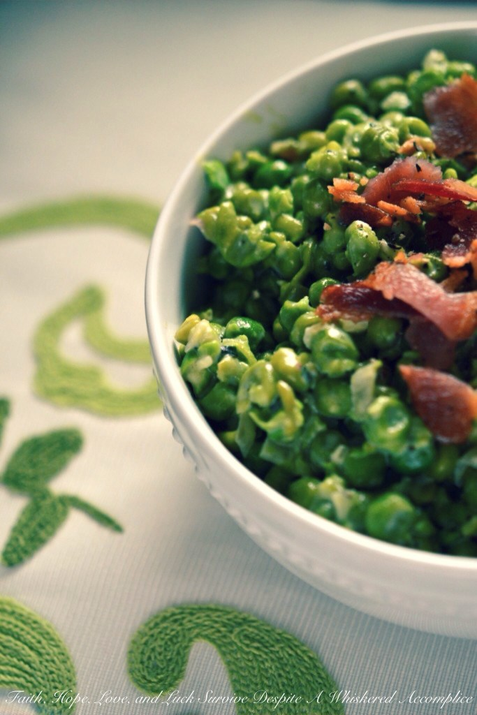 Mushy Peas with Bacon | Faith, Hope, Love, and Luck Survive Despite a Whiskered Accomplice
